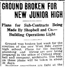 used detail ground broken 1918