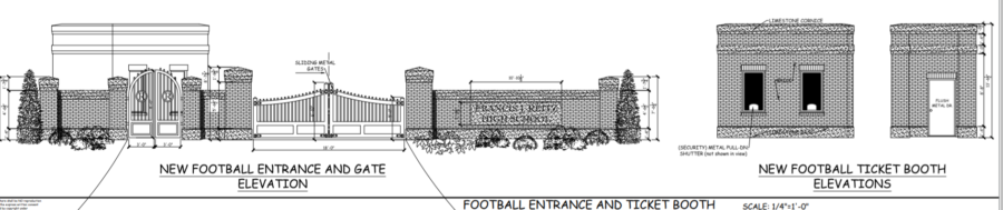 Rendition of Bowl Visitor Entrance Gates.