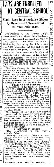 Reitz had 78 students in first weeks. Central did not take too much of a hit.